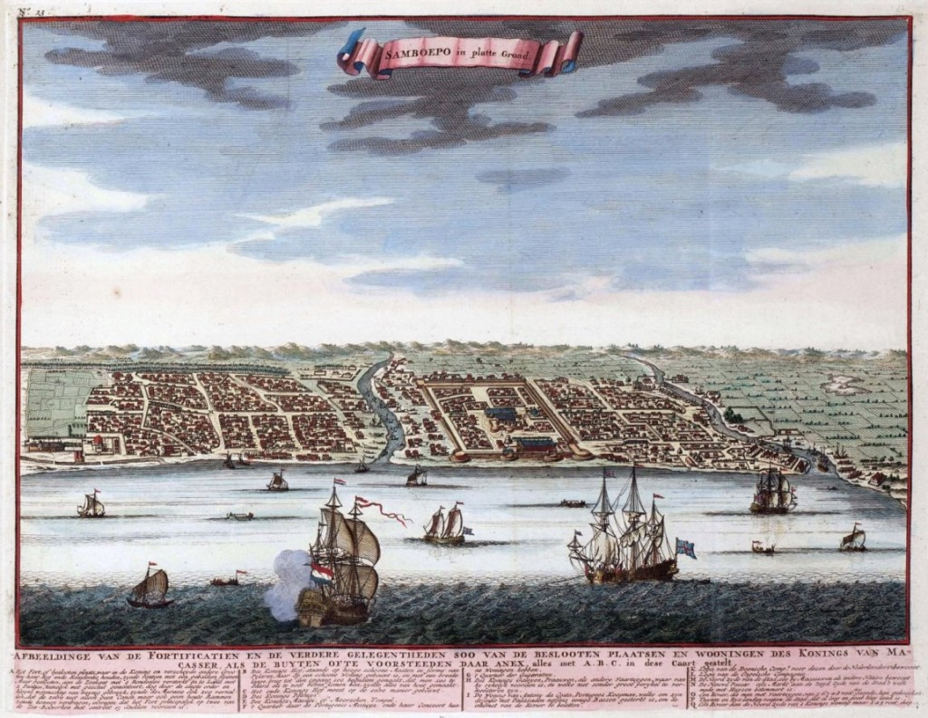 View of the City of Makassar, ca. 1640, with Somba Opu in its Centre