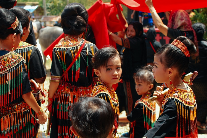 Kids at a ceremony in Toraja